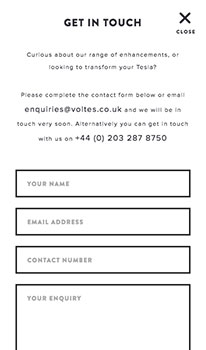 Mobile Contact Page